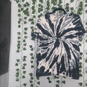 navy and gray tie dye t-shirt